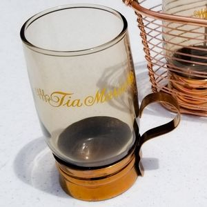 Tia Maria Copper Pedestal Cocktail Glass Set